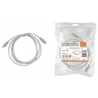 Патч-корд народный U/UTP Cat 5e 4PR 24AWG PVC, литой 0,5 м, серый