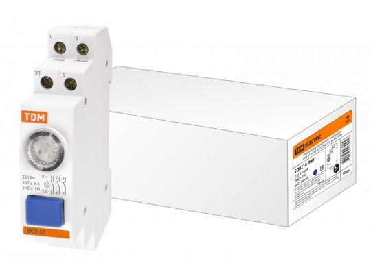 Выключатель кнопочный с индикацией ВКИ-47 синий (LED) 2НО;1НЗ AC/DC TDM