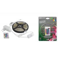 Комплект светодиодной лентыSMD5050-30LED/м-12 В-7,2 Вт/м-IP20-RGB (5м), 24 Вт, IR-контроллерTDM