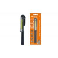 Фонарь-ручка переносной светодиодный ФП9, 3 Вт COB, 200 лм, 3хААА, магн., TDM