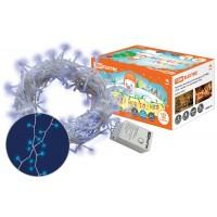 Гирлянда новогодняя светодиодная, СГ 100 Г, 220 В, голубая, 5 м, 8 режимов  TDM