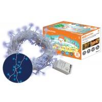 Гирлянда новогодняя светодиодная, СГ 200 Г, 220 В, голубая, 10 м, 8 режимов  TDM