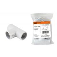 Тройник соед. для трубы 25 мм (5шт) - цвет белый TDM
