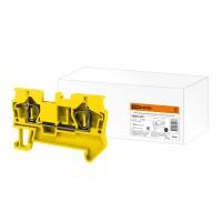 Зажим клеммный безвинтовой (ЗКБ) 2,5 мм2 31А желтый TDM