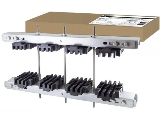 Набор шинных держателей и крепежа усиленный НШДУ 3/10 TN для 3Р+N шин 30-200 x 10 мм TDM