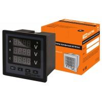 Цифровой вольтметр ЦП-В72х3 0-999кВ-0,5 (однофазный / 3 диспл.), акционный) TDM